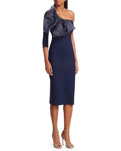 Синее платье без бретелек с декольте Chiara Boni La Petite Robe