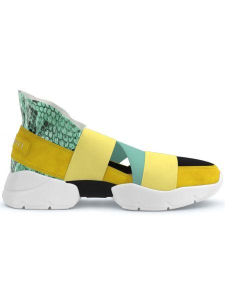 Sneakersy wysokie - białe Emilio Pucci