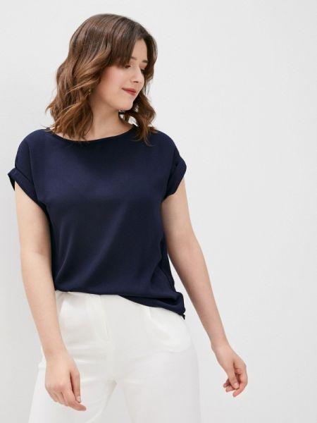 Синяя блузка с коротким рукавом снежная королева