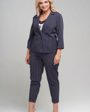Брючный костюм деловой в полоску Mari-line