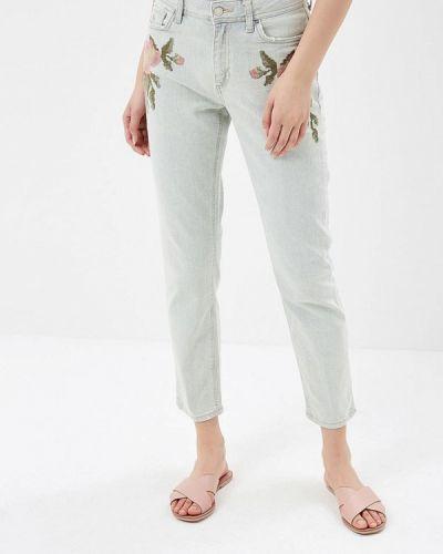 Бирюзовые джинсы-скинни Colin's