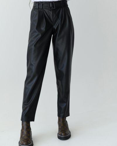 Кожаные брюки - черные Wear Me