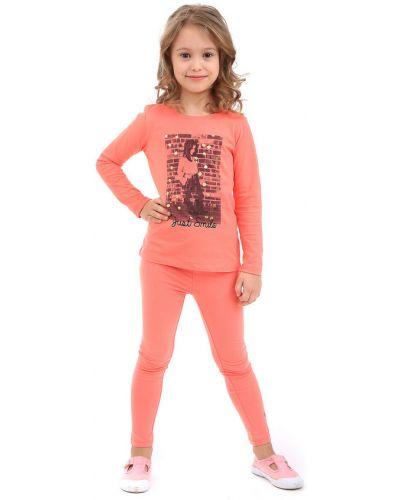Оранжевая футболка хлопковая Tom Tailor