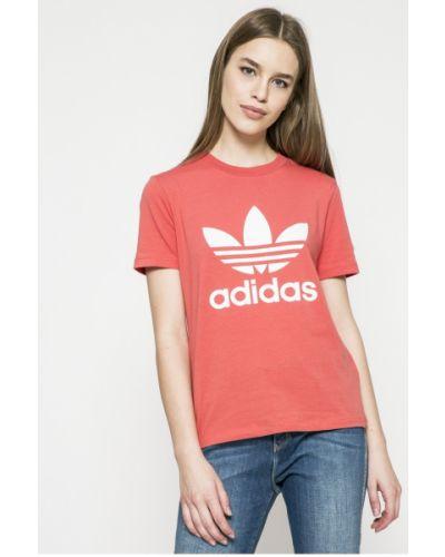 Красная футболка прямая Adidas Originals
