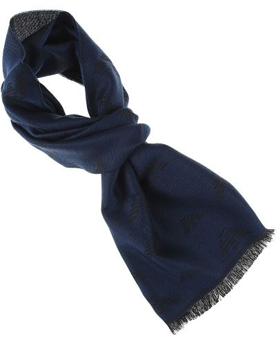 Niebieski szalik zimowy Emporio Armani