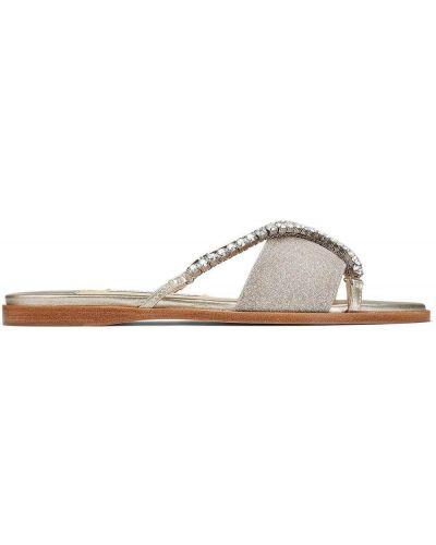 Otwarty skórzany sandały otwarty palec u nogi Jimmy Choo