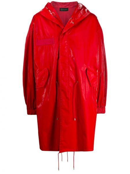 Красный свободные длинный плащ свободного кроя с капюшоном Mr & Mrs Italy