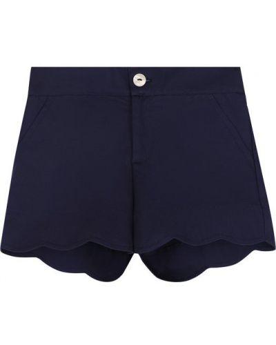 Шорты темно-синий с карманами Oscar De La Renta