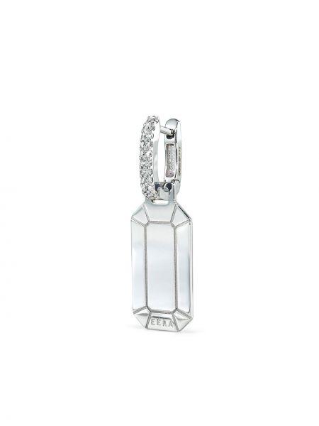 Białe złote kolczyki z diamentem Eera