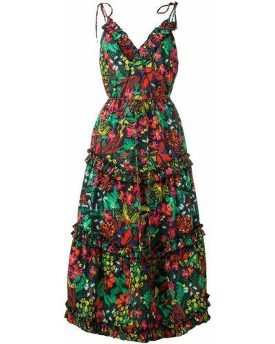 Платье в цветочный принт - черное Escada Sport