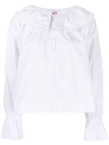 Biała bluzka z długimi rękawami Shrimps