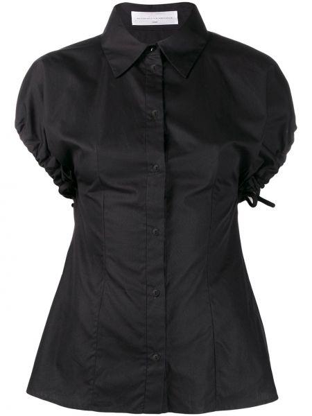 Классическая рубашка с коротким рукавом черная Victoria, Victoria Beckham