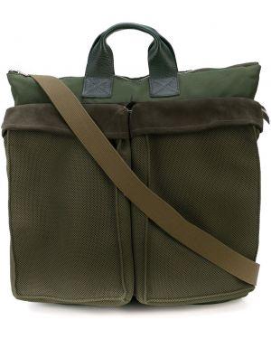 Нейлоновая сумка-тоут на молнии круглая Hender Scheme