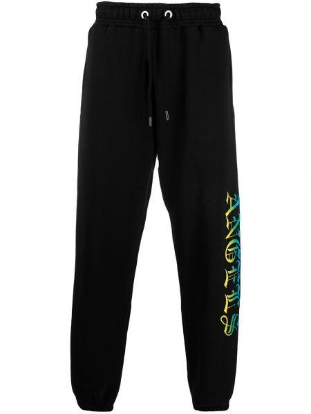 Bawełna bawełna czarny spodnie z kieszeniami Palm Angels