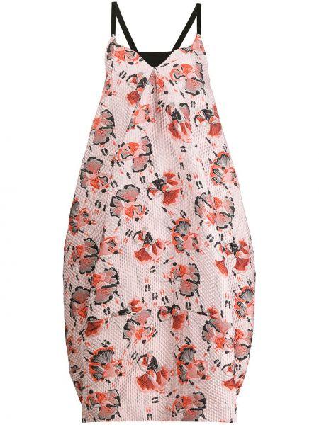Платье миди с цветочным принтом с карманами Henrik Vibskov