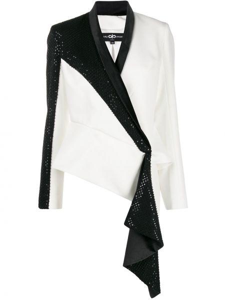 Белая нейлоновая куртка с запахом Avaro Figlio