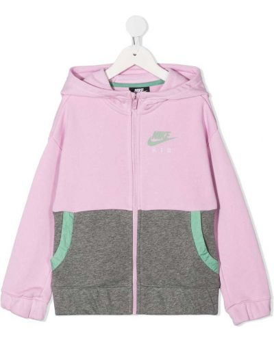 С рукавами розовая куртка с капюшоном Nike Kids