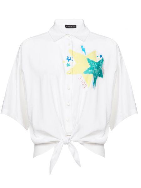Белая рубашка на пуговицах из вискозы Alessandro Dell'acqua