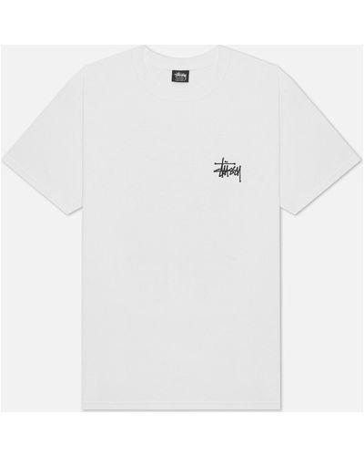 Базовая хлопковая белая футболка Stussy
