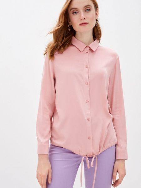 Блузка с длинным рукавом розовая весенний Lina