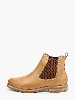 Бежевые демисезонные ботинки челси Tamaris