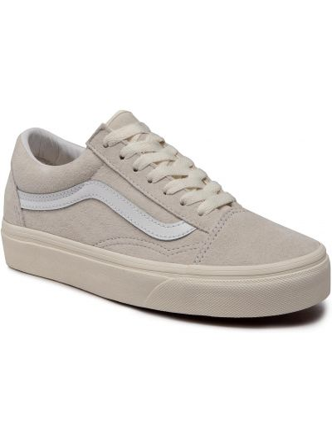 Beżowy skórzany skórzane sneakersy Vans