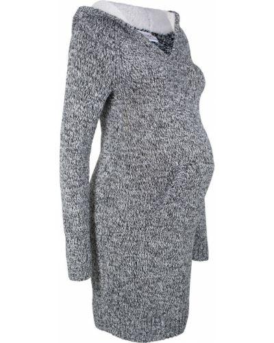 Вязаное платье облегающее для беременных Bonprix