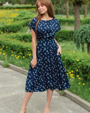 Вечернее платье миди из штапеля Lika Dress