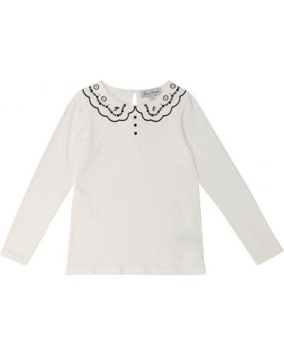 Белая хлопковая футболка Tartine Et Chocolat