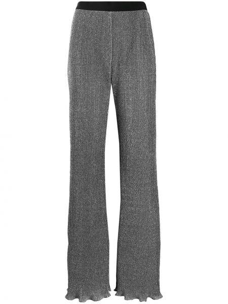 Расклешенные брюки с поясом с люрексом Alberta Ferretti