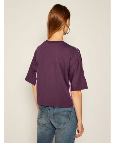 Fioletowy t-shirt oversize Champion