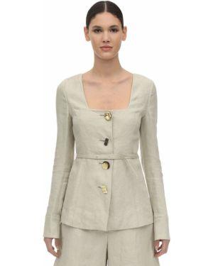 Пиджак мятный квадратный с декольте на кнопках Rejina Pyo