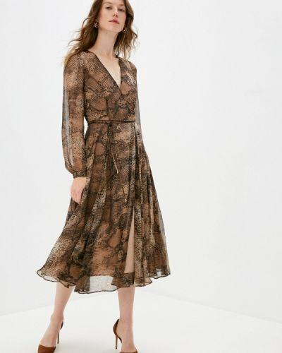 Коричневое прямое платье Lusio