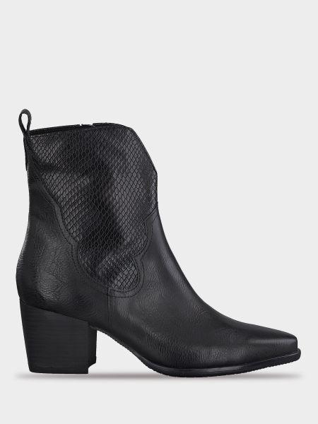 Кожаные ботинки - черные Marco Tozzi