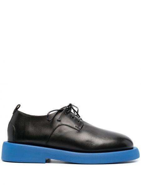 Кожаные черные оксфорды на каблуке Marsèll
