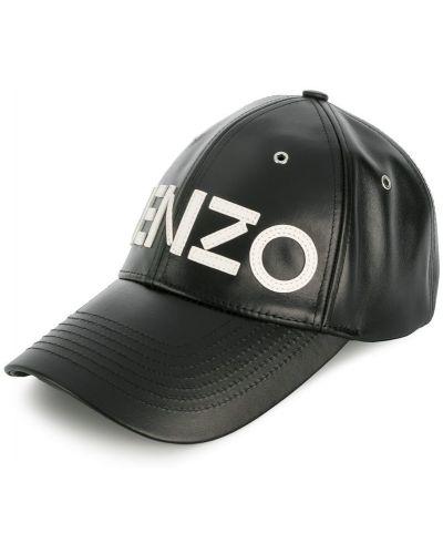 Бейсболка с логотипом кожаная Kenzo