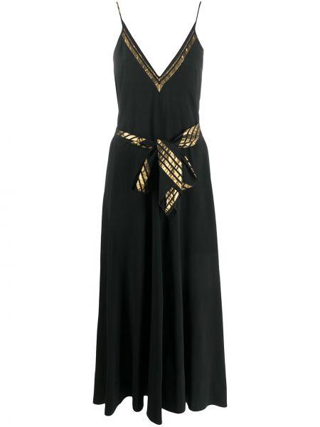 Платье макси с завышенной талией на бретелях Forte Forte
