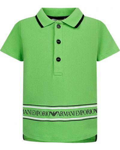 Зеленый поло Armani Junior
