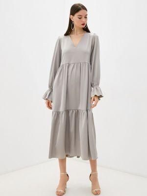 Прямое платье - бежевое Seam