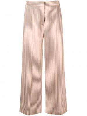 С завышенной талией брюки в полоску с карманами Pt01