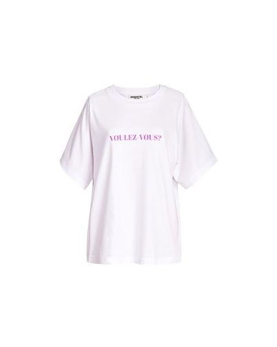 Хлопковая футболка - белая Essentiel