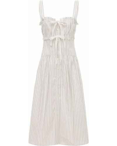 Белое платье миди с карманами Philosophy Di Lorenzo Serafini
