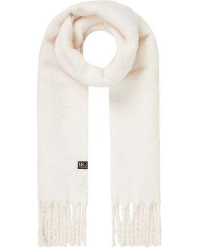 Biała szal z frędzlami K-ro