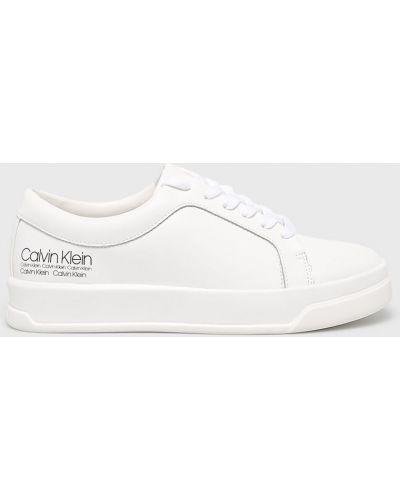 Кроссовки на платформе белый Calvin Klein