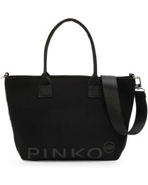 Torba na zakupy na ramię czarna Pinko Kids