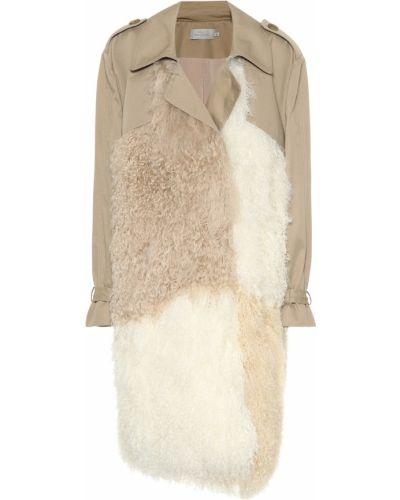 Пальто с опушкой Preen By Thornton Bregazzi