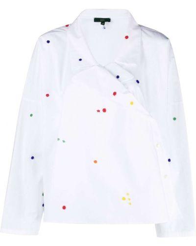 Хлопковая белая рубашка с воротником Jejia