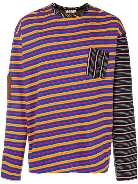 Koszula z długim rękawem w paski z paskami Marni