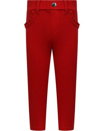 Красные хлопковые брюки Mayoral
