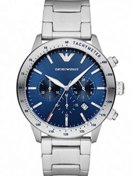 Со стрелками серебряные часы механические круглые Emporio Armani